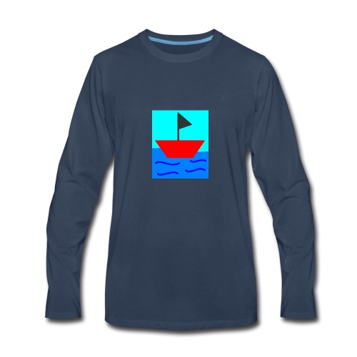 MS Paint Boat - Men's Premium Long Sleeve T-Shirt
