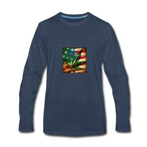weed freedom weed memes - Men's Premium Long Sleeve T-Shirt
