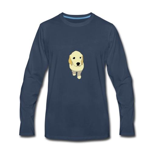 Golden Retriever puppy - Men's Premium Long Sleeve T-Shirt
