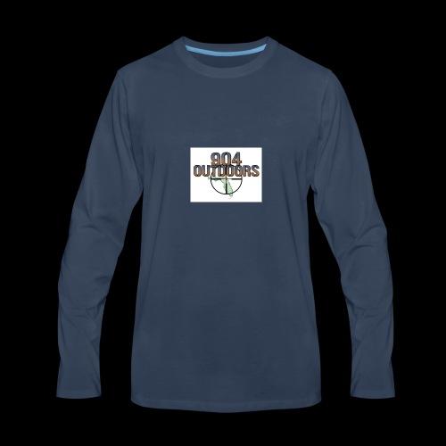 White Logo Shirts - Men's Premium Long Sleeve T-Shirt