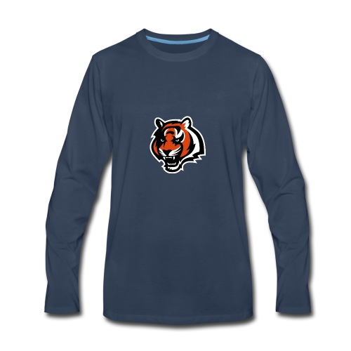 nfl logo black orange Logo - Men's Premium Long Sleeve T-Shirt