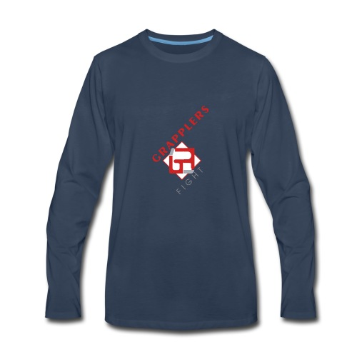 Dynamic 001 grapplersfight LOGO Front - Men's Premium Long Sleeve T-Shirt
