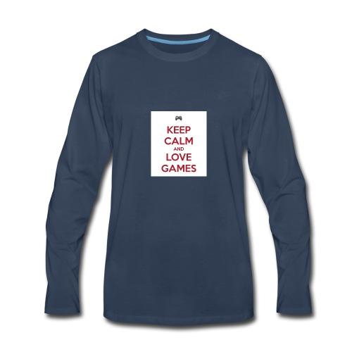 keep calm and love games - Men's Premium Long Sleeve T-Shirt