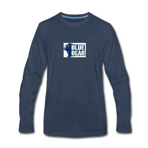 Blue Bear logo - Men's Premium Long Sleeve T-Shirt