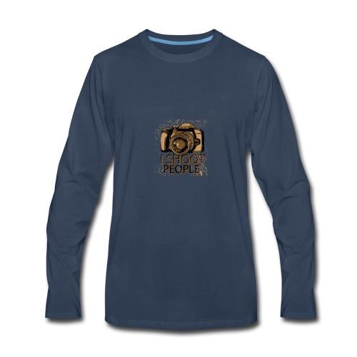 I shoot people - Men's Premium Long Sleeve T-Shirt