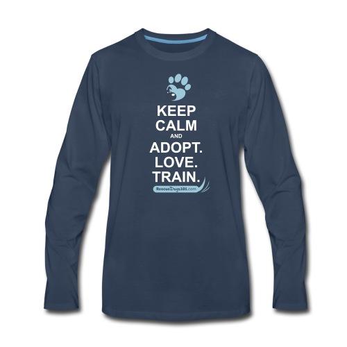 RescueDogs101 Keep Calm - Men's Premium Long Sleeve T-Shirt