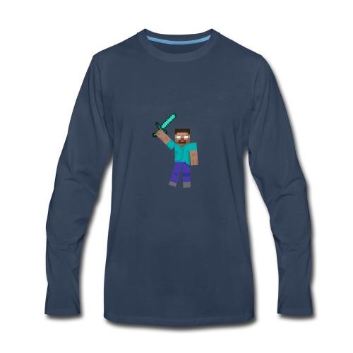 Herobrine Anniversary - Men's Premium Long Sleeve T-Shirt