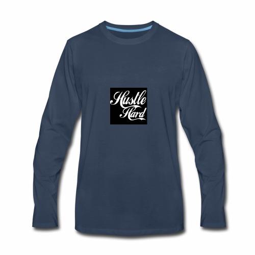 hustle hard - Men's Premium Long Sleeve T-Shirt