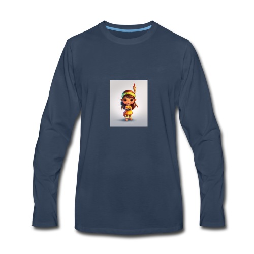 indian girl shirt - Men's Premium Long Sleeve T-Shirt