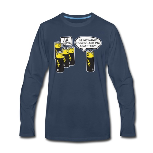 AA BATTERY FUNNY - Men's Premium Long Sleeve T-Shirt
