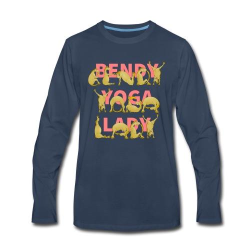 Crazy Yoga Lady - Men's Premium Long Sleeve T-Shirt