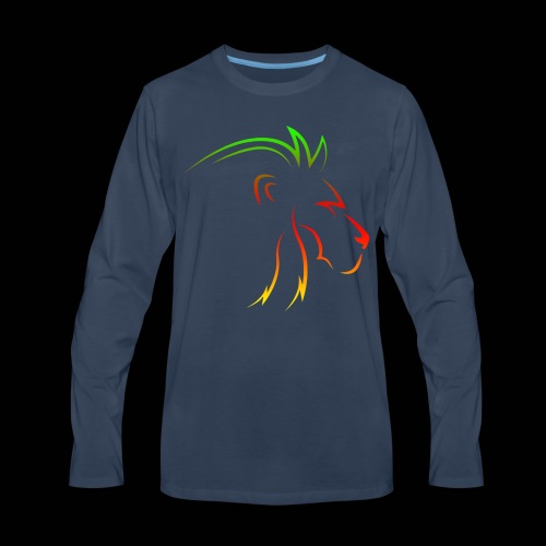 Rainbow lion - Men's Premium Long Sleeve T-Shirt
