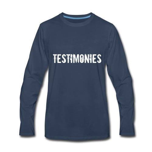 Testimonies Shirt - Men's Premium Long Sleeve T-Shirt