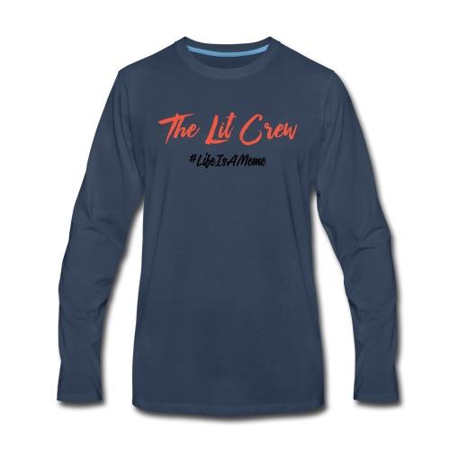 The Lit Crew - Men's Premium Long Sleeve T-Shirt