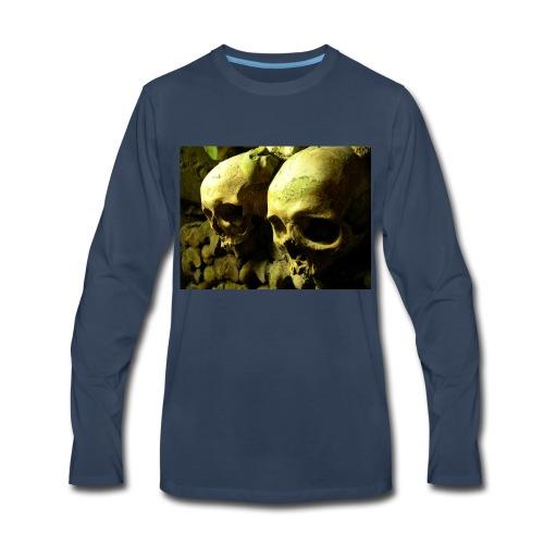 Skull design realistic 2 - Men's Premium Long Sleeve T-Shirt