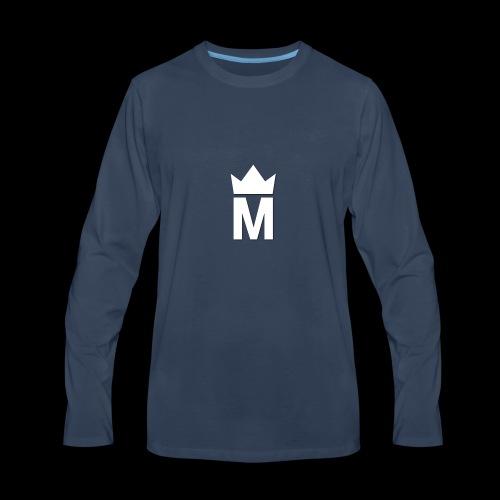 White Majesty Logo - Men's Premium Long Sleeve T-Shirt