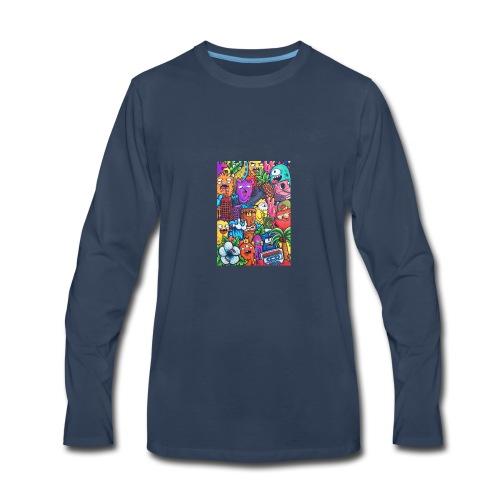 doodle art vexx - Men's Premium Long Sleeve T-Shirt
