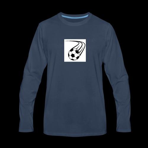 Soccer ball logo - Men's Premium Long Sleeve T-Shirt