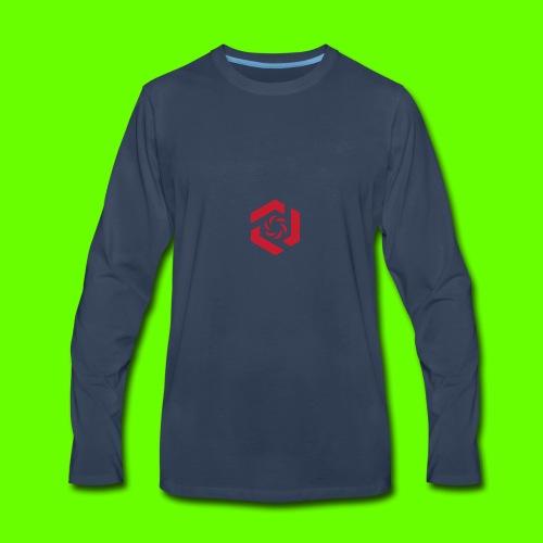 Temporary Logo Design - Men's Premium Long Sleeve T-Shirt