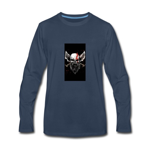 God of War Skull - Men's Premium Long Sleeve T-Shirt