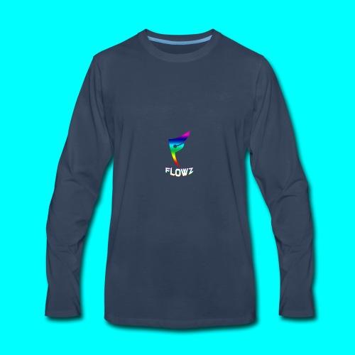 Multi-Colour Flowz Logo With Text - Men's Premium Long Sleeve T-Shirt