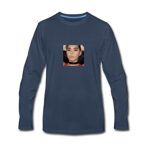 Orange & Black Cut Crease - Men's Premium Long Sleeve T-Shirt