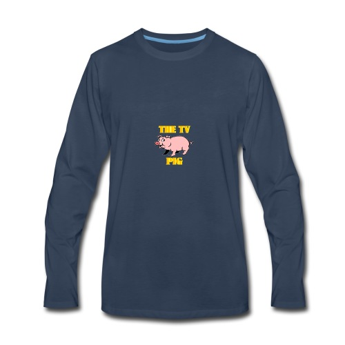 Official TV Pig Merchandise - Men's Premium Long Sleeve T-Shirt