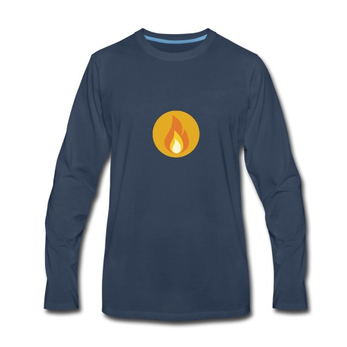 Flame (For cases and Cups) - Men's Premium Long Sleeve T-Shirt