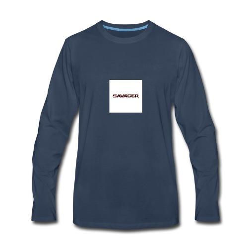 savagerRedLogo - Men's Premium Long Sleeve T-Shirt