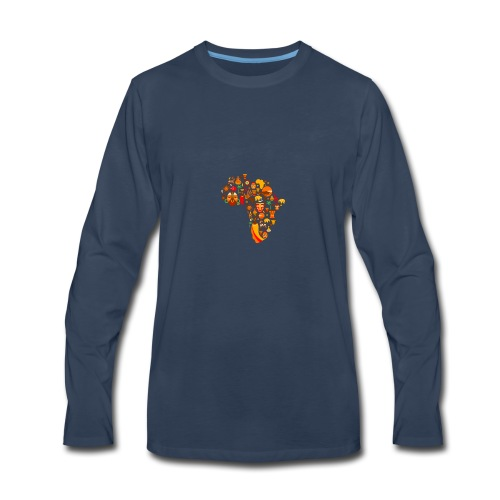 africa map - Men's Premium Long Sleeve T-Shirt