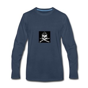 Greaser skull - Men's Premium Long Sleeve T-Shirt