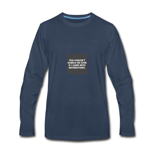 short funny quotes - Men's Premium Long Sleeve T-Shirt