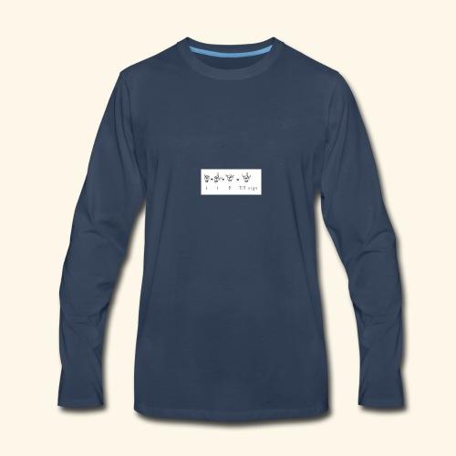 illuminati symbols I L KILKsign - Men's Premium Long Sleeve T-Shirt