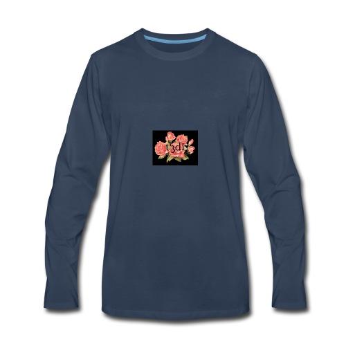 t3di 6aer floral pattern - Men's Premium Long Sleeve T-Shirt