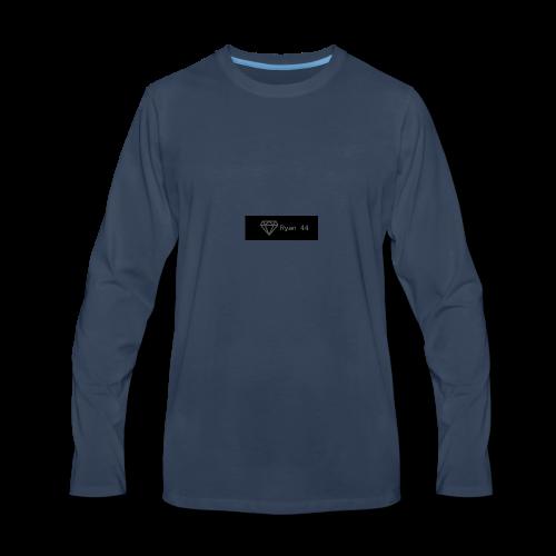 ryan 44 diamond banner icon - Men's Premium Long Sleeve T-Shirt