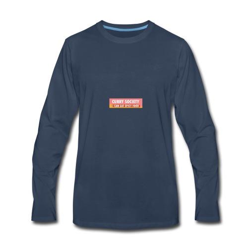Curry Society Box Logo Season 1 - Men's Premium Long Sleeve T-Shirt