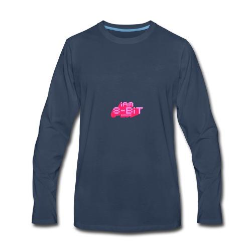 8-bit-flyer - Men's Premium Long Sleeve T-Shirt