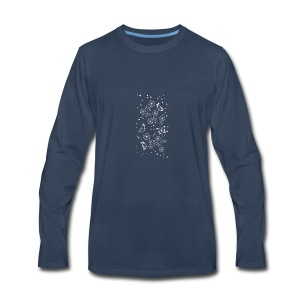 Floral and Butterflys_white - Men's Premium Long Sleeve T-Shirt