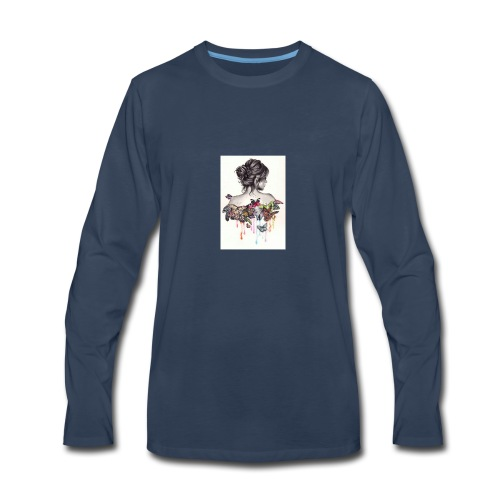The love that surrounds her - Men's Premium Long Sleeve T-Shirt