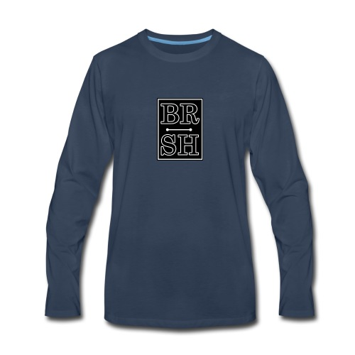 Initial BRSH Marquee Logo - Men's Premium Long Sleeve T-Shirt