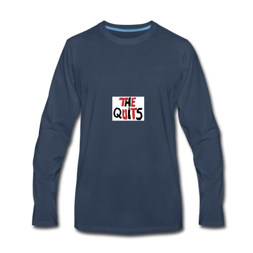 quits logo - Men's Premium Long Sleeve T-Shirt