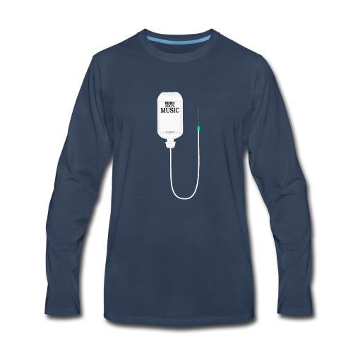 Music is my medicine - Men's Premium Long Sleeve T-Shirt