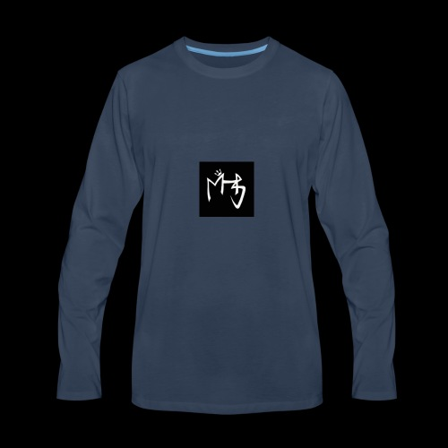 LOGO M H P S 2 black - Men's Premium Long Sleeve T-Shirt