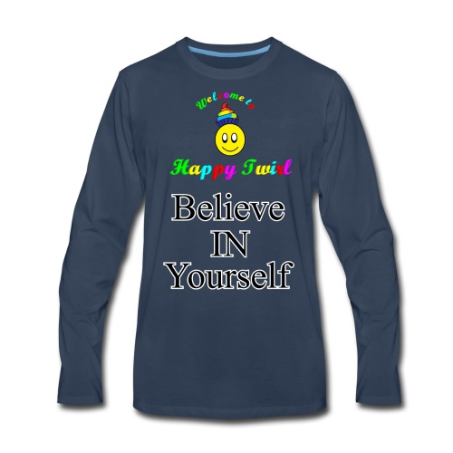 HTS Believe in Yourself Highlighted Logo - Men's Premium Long Sleeve T-Shirt