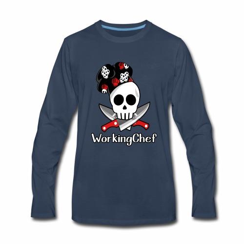 WorkingChef - skulls - Men's Premium Long Sleeve T-Shirt
