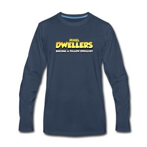 Pixel Dweller Logo - Men's Premium Long Sleeve T-Shirt