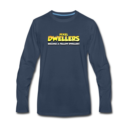 Pixel Dweller Logo - Men's Premium Long Sleeve T-Shirt