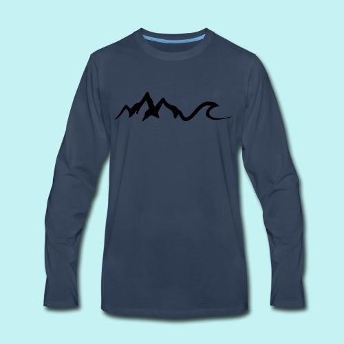 Mount Wave - Men's Premium Long Sleeve T-Shirt