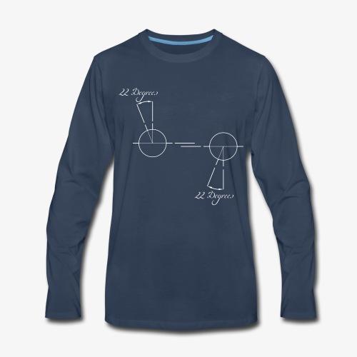 22 degrees of CX500 - no model shown - Men's Premium Long Sleeve T-Shirt