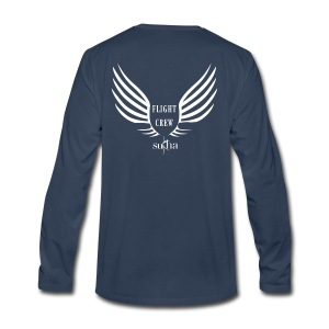 flight crew logo white - Men's Premium Long Sleeve T-Shirt